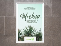 2 Free Outdoor Advertising Screens MockUps in 4k