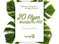 20 Premium and Free Photo-Realistic Flyer MockUps in PSD