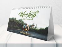 Free Desk Calendar MockUp in 4k
