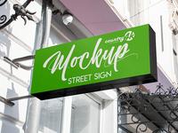 Free Street Sign MockUp in 4k