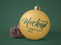 Free Christmas Ball MockUp in 4k