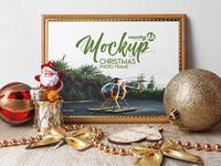 Free Christmas Photo Frame MockUp in 4k