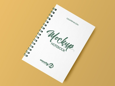 Free Spiral Notebook MockUp in 4k