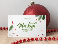 Free Christmas Card PSD MockUp in 4k