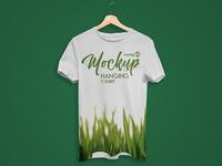 Free Hanging T-Shirt PSD MockUp in 4k