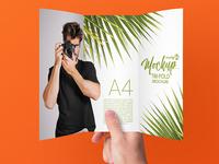 3 Free Tri-Fold Brochure PSD MockUps in 4k