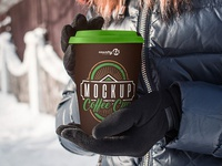 2 Free Coffee Cup PSD MockUps in 4k