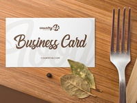 Free Food Business Card PSD MockUp in 4k