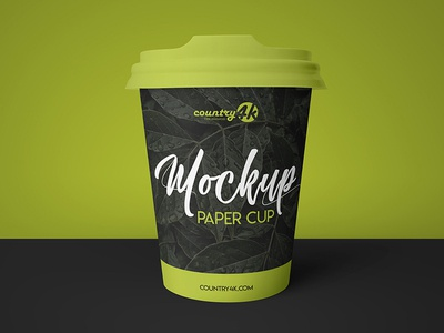 Free Paper Cup PSD MockUp in 4k