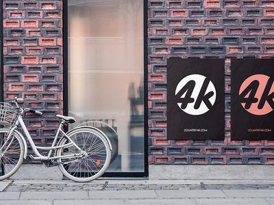 Free Street Poster PSD MockUp in 4k