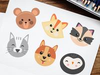 Free Cartoon Animals Vector Set