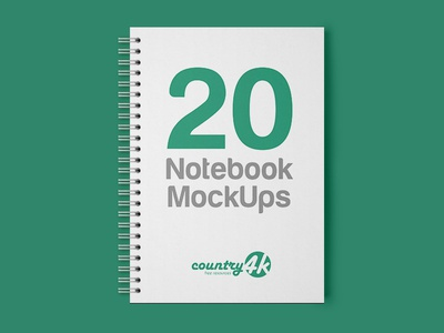 20 Premium and Free Notebook PSD MockUps