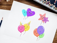 Free Balloons Vector Set