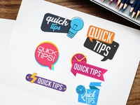 Free Quick Tips Banner Vector Set