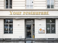 Free Restaurant Facade PSD MockUp in 4k