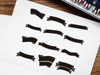 Free Black Ribbons Vector Set