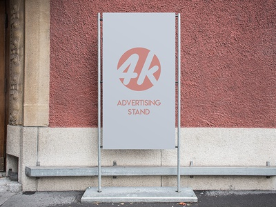 Free Advertising Stand PSD MockUp in 4k