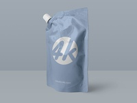 Free Doypack Foil Bag PSD MockUp in 4k
