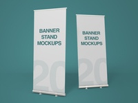 20 Premium and Free Banner Stand PSD MockUps