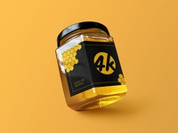 Free Honey Jar PSD MockUp in 4k