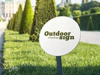 2 Free Outdoor Sign PSD MockUps in 4k