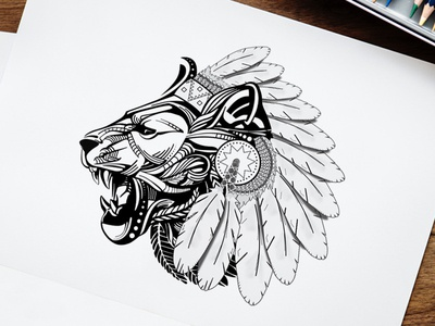 Free Lion Face Vector Clipart
