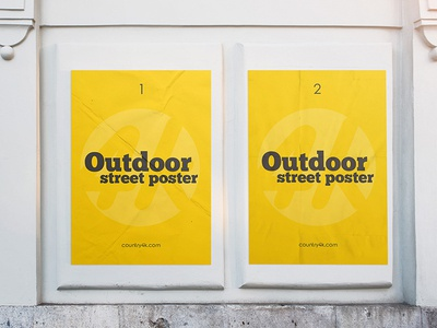 Free Outdoor Street Poster PSD MockUp in 4k