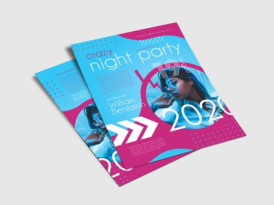 Free Crazy Night Party PSD Flyer Template guest dj event party us letter poster flyers flyer design freebie product psd free