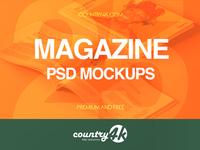 25 Premium and Free Magazine PSD MockUps
