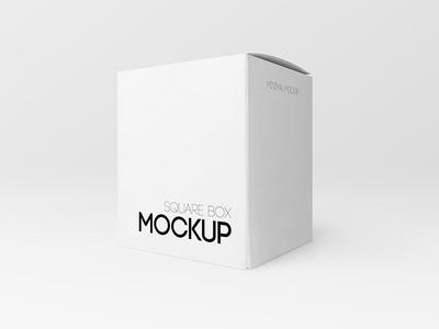Free Square Box PSD MockUp in 4k