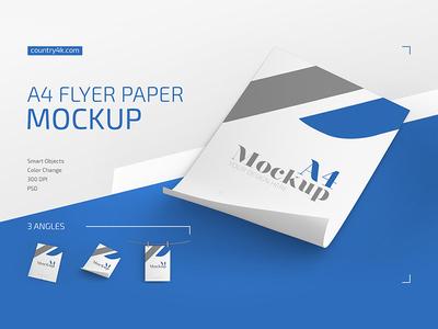 A4 Flyer Paper Mockup Set