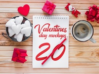 20 Premium and Free Valentine's Day PSD Mockups