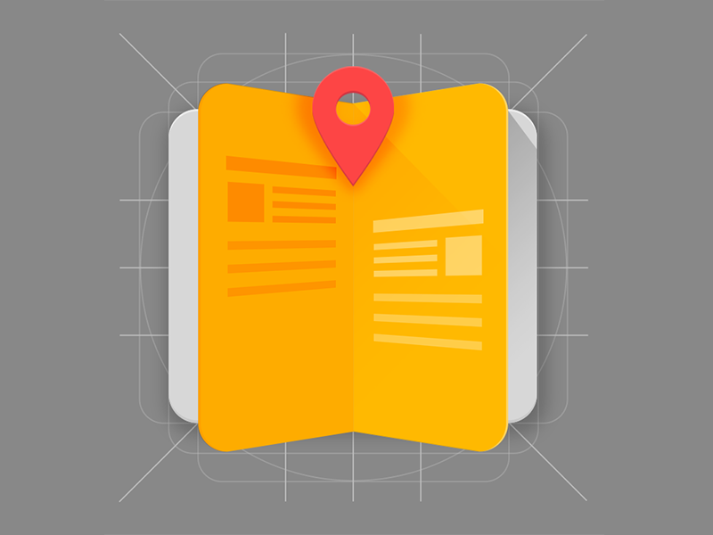 Icon Placebook app icon. icon material design android