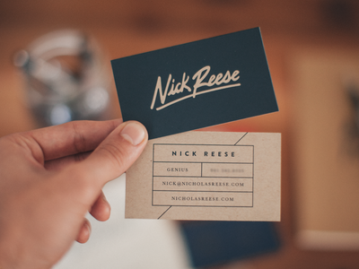 Nick Reese Cards handwritten screen printed print business cards french paper texture hand-lettering mamas sauce brave people popular typography hand-made