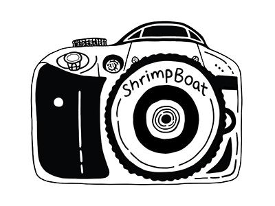 ShrimpBoat Logo artbysharonhillman philly artist philadelphia freehand illustrator personal logo logo design