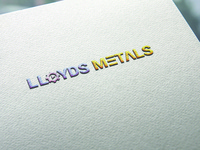 LLOYDS METALS logo design