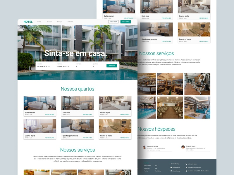 Hotel landpage hotel home web design ui
