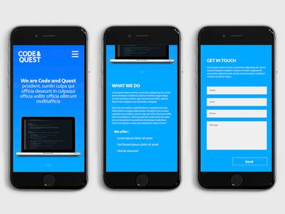 Code and Quest responsive website design mobile first responsive design web design website