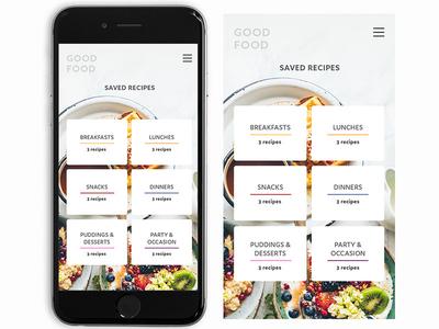 Good Food UI set app design web ux ui