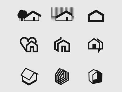 Logo set mark branding logotype logo