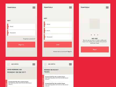 TeamTools - UI SET app design web ux ui