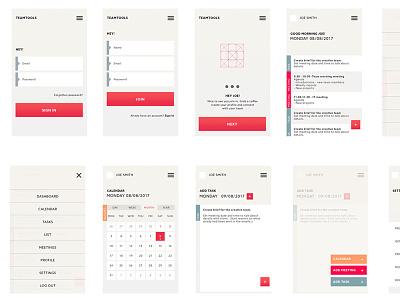 TEAMTOOLS UI  Set app design web ux ui