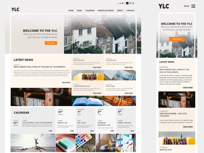 Ylc - website design ui ux mobile responsive design web website