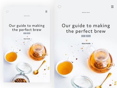 Blog post mobile layout v2 product photography design web design responsive app ui ux website