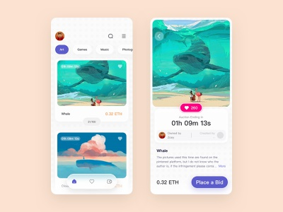 NFT-Conceptual works dribbble app design iphone android ios ui ntf