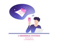 1 Dribbble Invitations