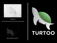Turtoo Logo from sketch to illustration