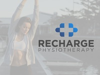 RECHARGE PHYSIOTHERAPY Logo Design