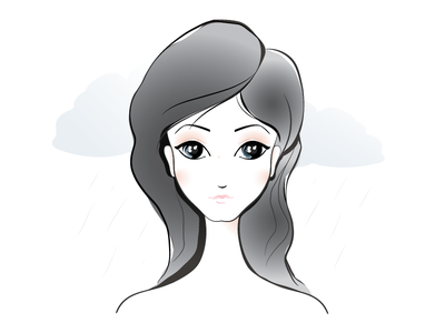 Rainy Day girl illustrator illustration
