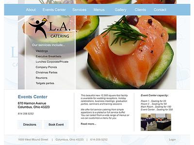 Catering Website website